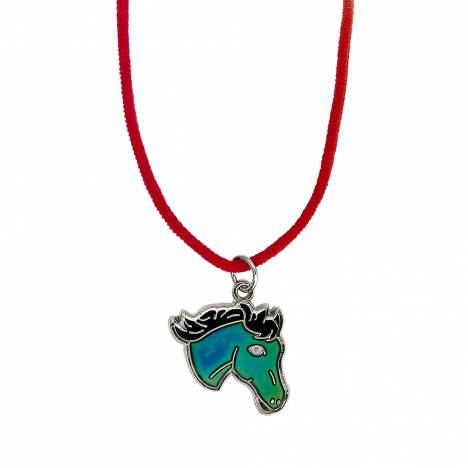 Kids Horse Head Mood Necklace