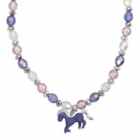 Kids Glitter Horse Necklace