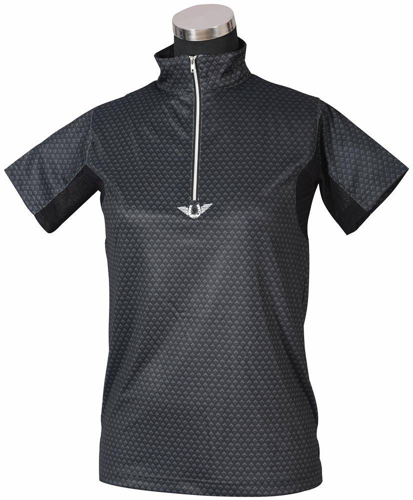 Tuffrider Ladies Black Diamond Shirt Long Sleeve Polo Shirt