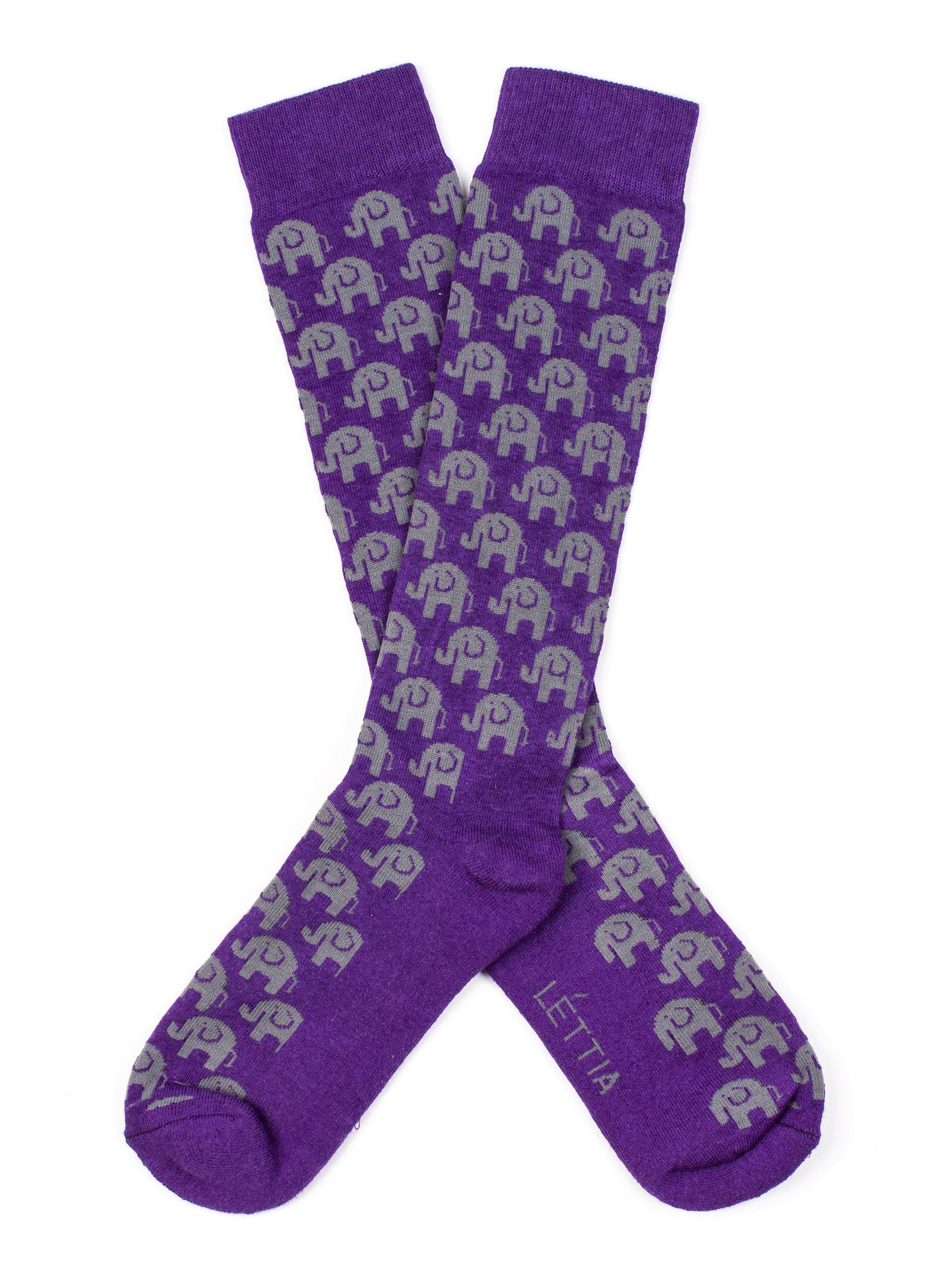 Lettia Ladies Bamboo Boot Sock - Elephant