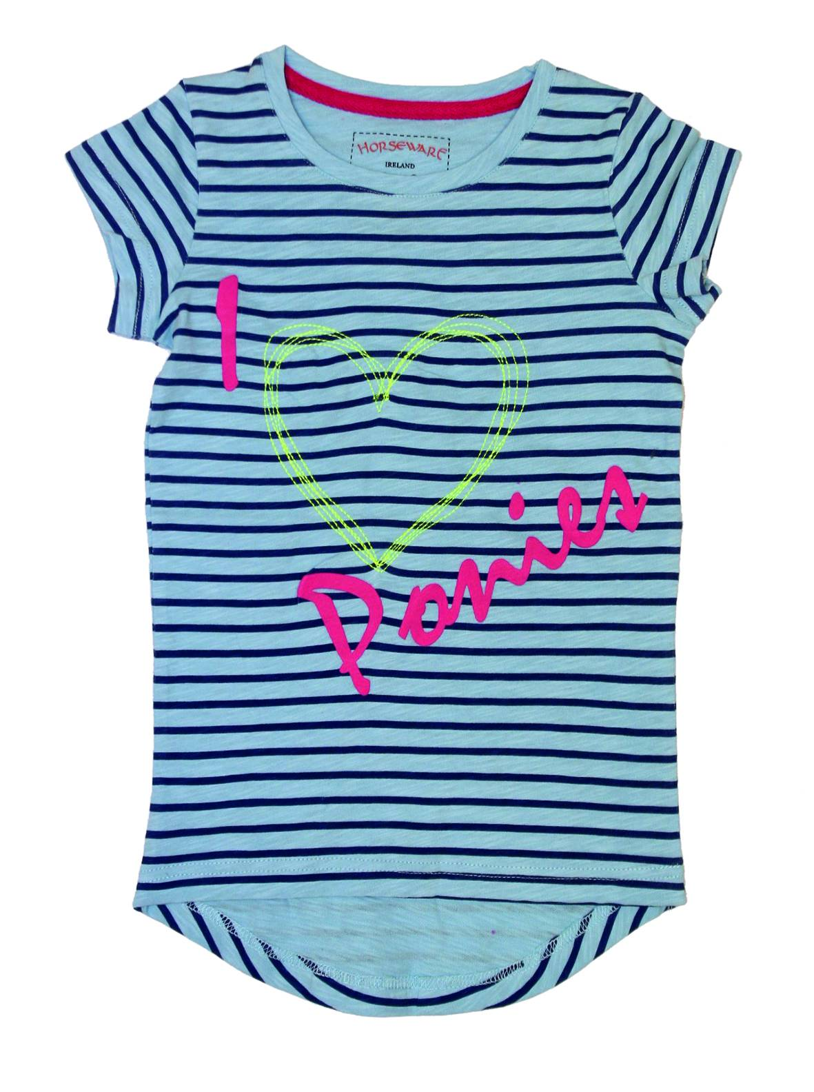Horseware Girls Striped Novelty Tee