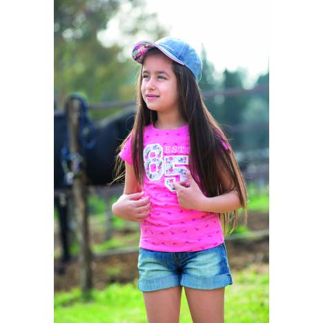 Horseware Girls Horse Print Novelty Tee