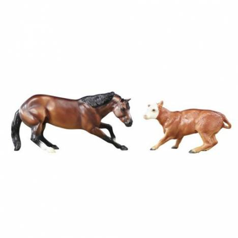 Breyer Classics Cutting Horse & Calf Set