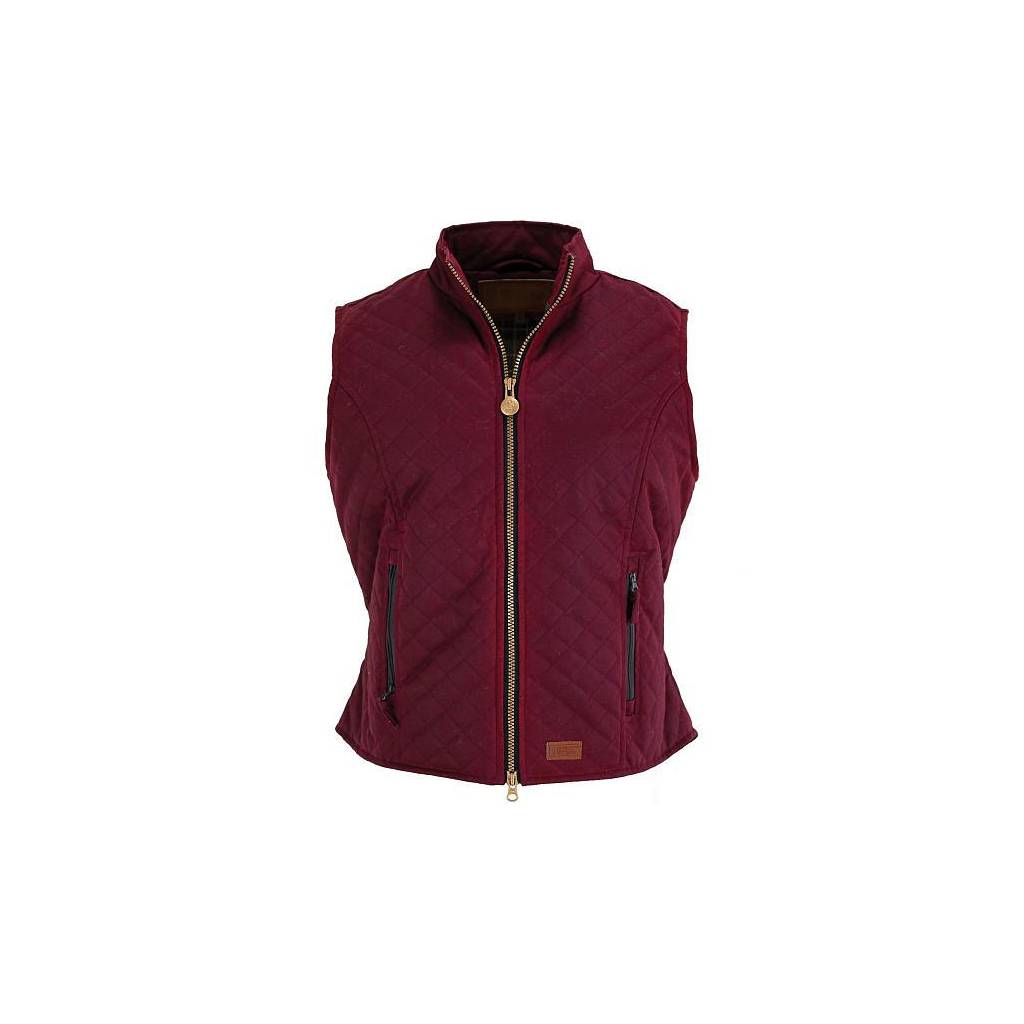 Outback Oilskin Quilted Vest- Ladies