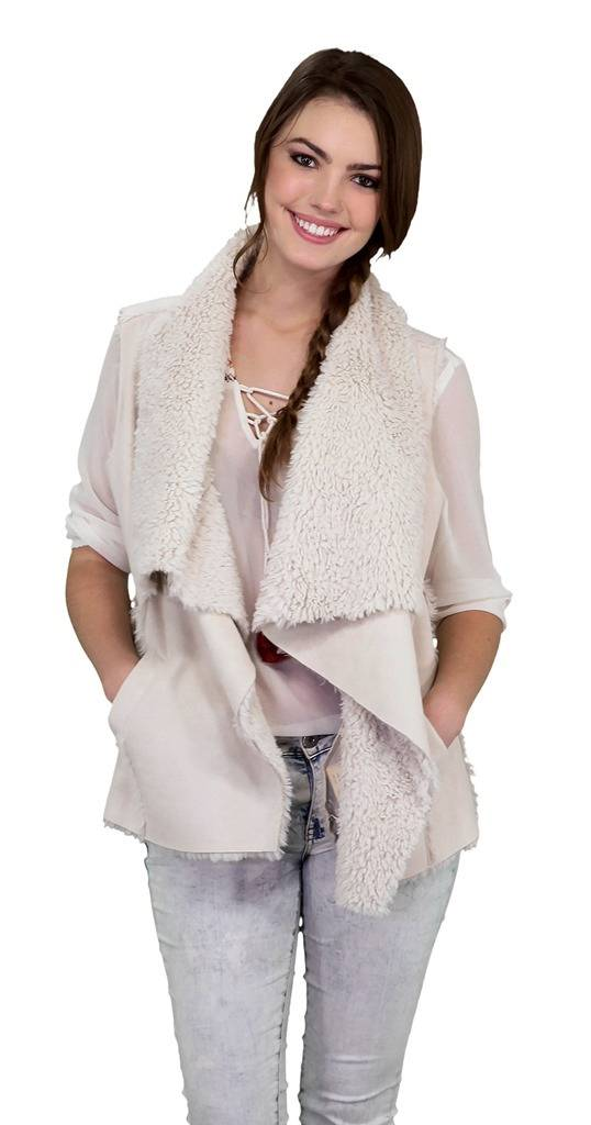 Outback Trading Marnie Faux Fur Vest- Ladies