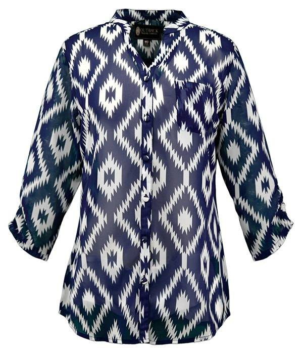 Outback Trading Midnight Shirt- Ladies