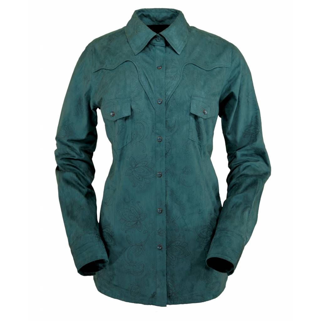 Outback Trading Tracie Faux Leather Shirt - Ladies