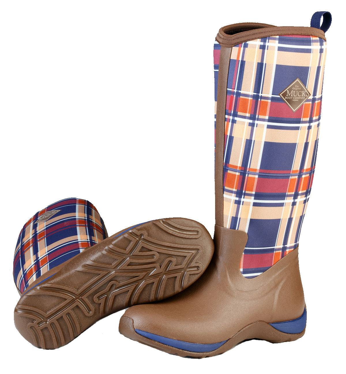 Muck Boots Arctic Adventure - Ladies - Brown/Navy Plaid