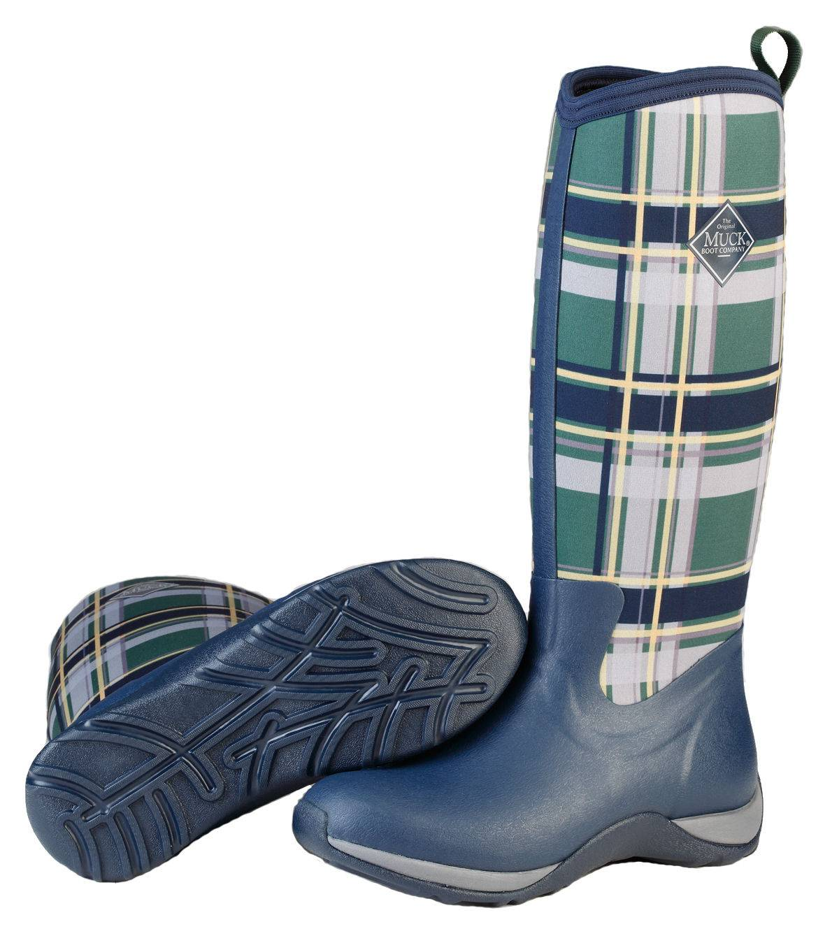 Muck Boots Arctic Adventure - Ladies - Navy/Green Plaid
