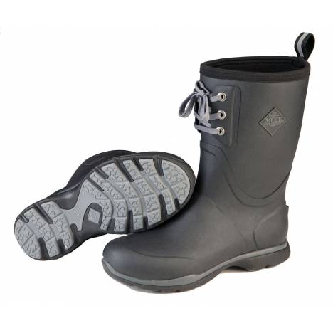 Muck Boots Arctic Excursion Lace Mid - Mens - Black