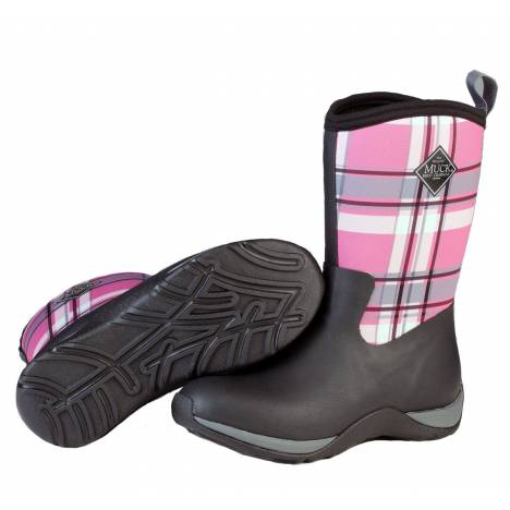 Muck Boots Arctic Weekend - Ladies - Black/Pink Plaid