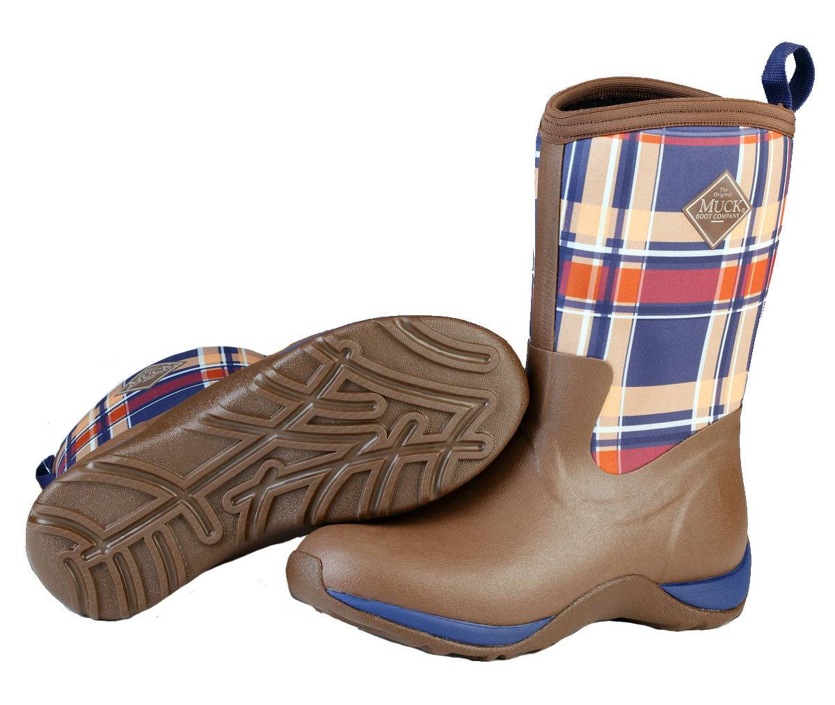 Muck Boots Arctic Weekend - Ladies - Brown/Navy Plaid