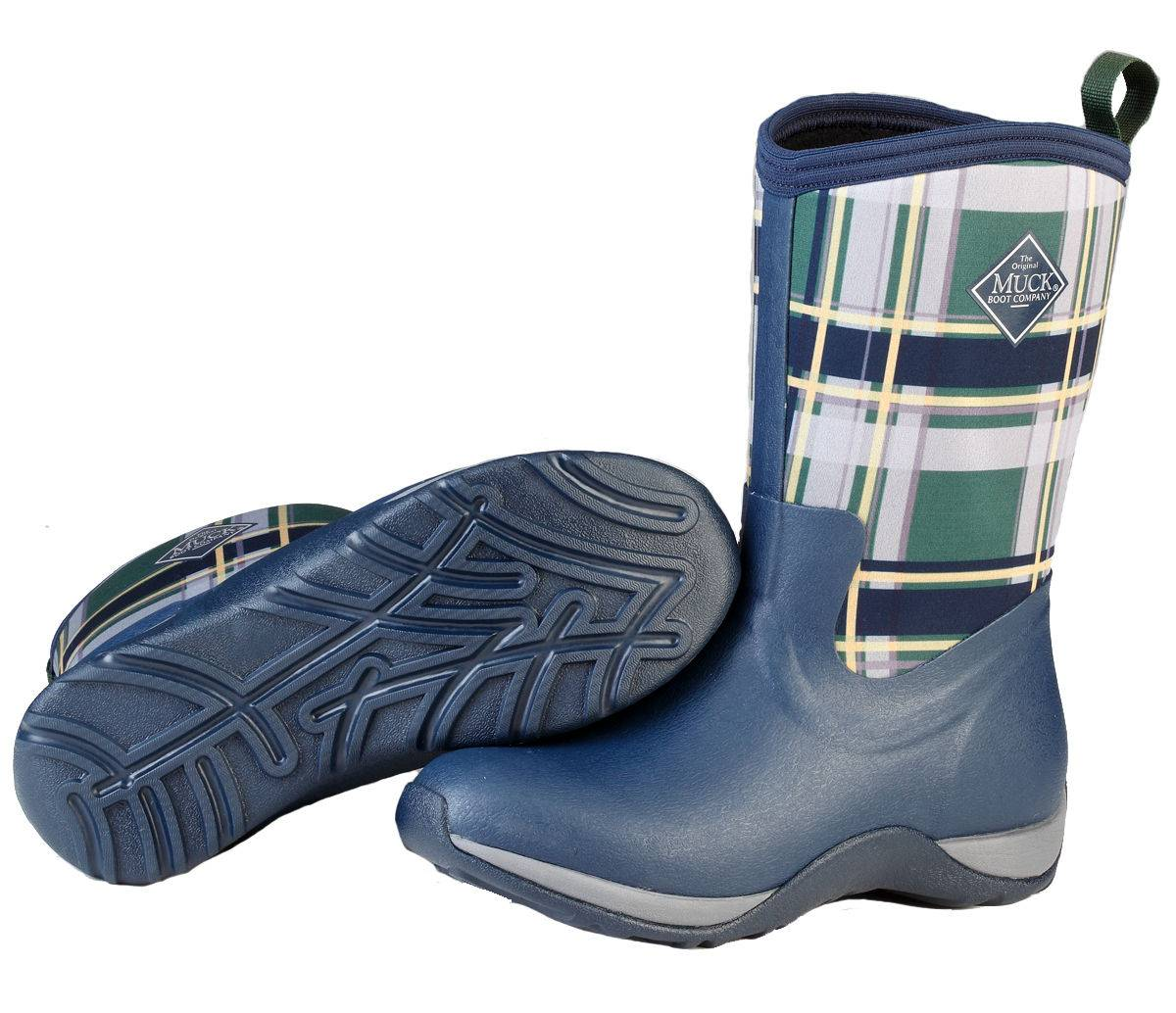 Muck Boots Arctic Weekend - Ladies - Navy/Green Plaid