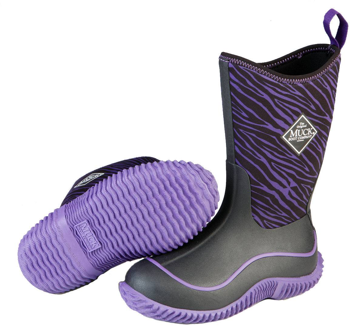 Muck Boots Hale - Kids - Purple Zebra