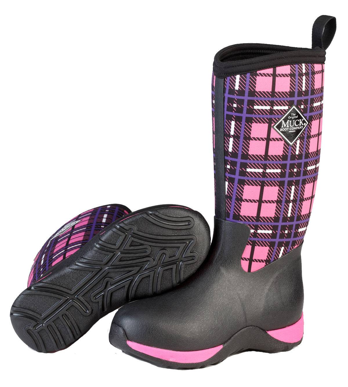 Muck Boots Arctic Adventure - Kids - Pink Plaid