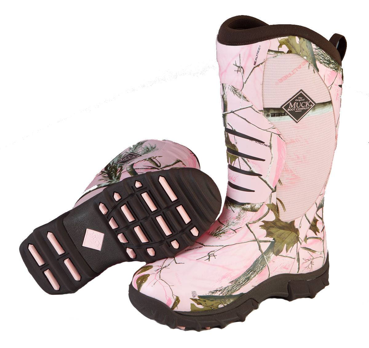 Muck Boots Pursuit Stealth - Ladies - Pink Realtree
