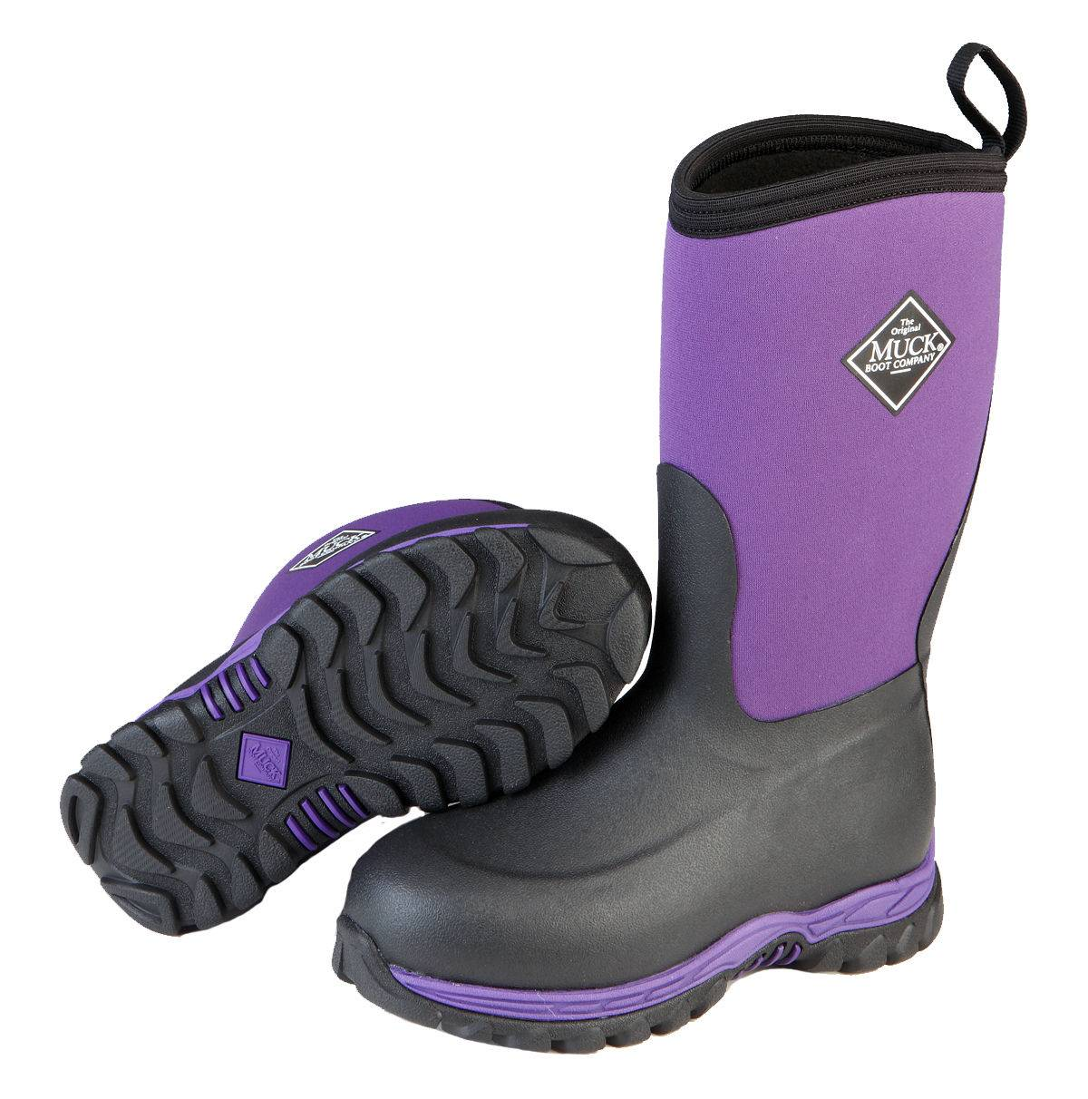 Muck Boots Rugged II - Kids - Black/Purple