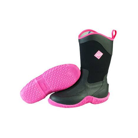 Muck Boots Tack II Mid - Ladies - Black/Hot Pink