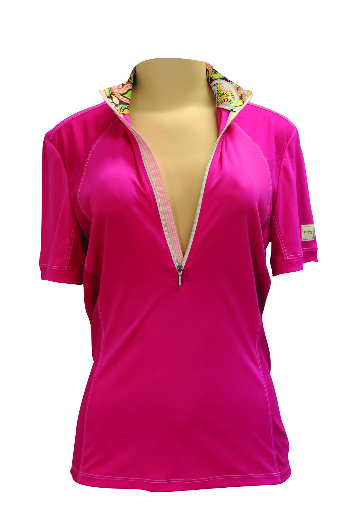 FITS Sea Breeze Short Sleeve Tech Shirt - Ladies - Pink