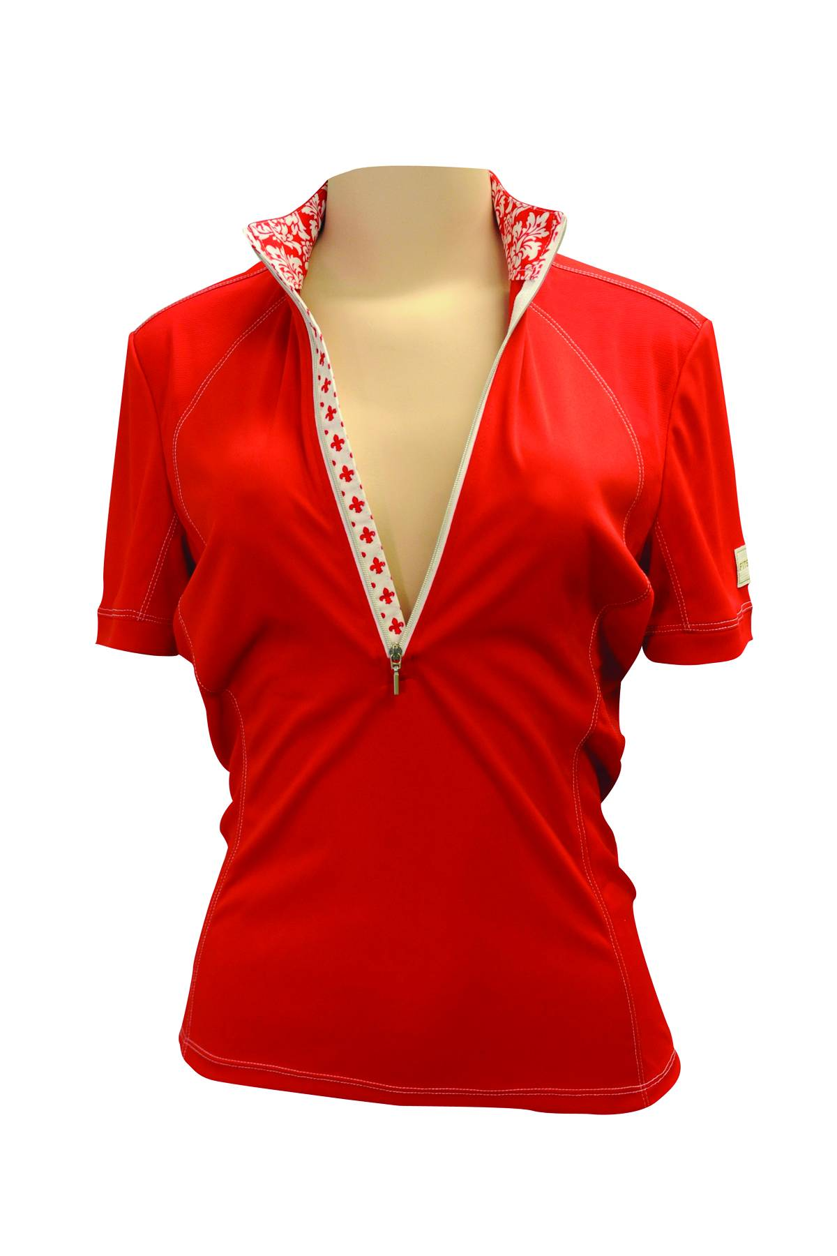 FITS Sea Breeze Short Sleeve Tech Shirt - Ladies - Red