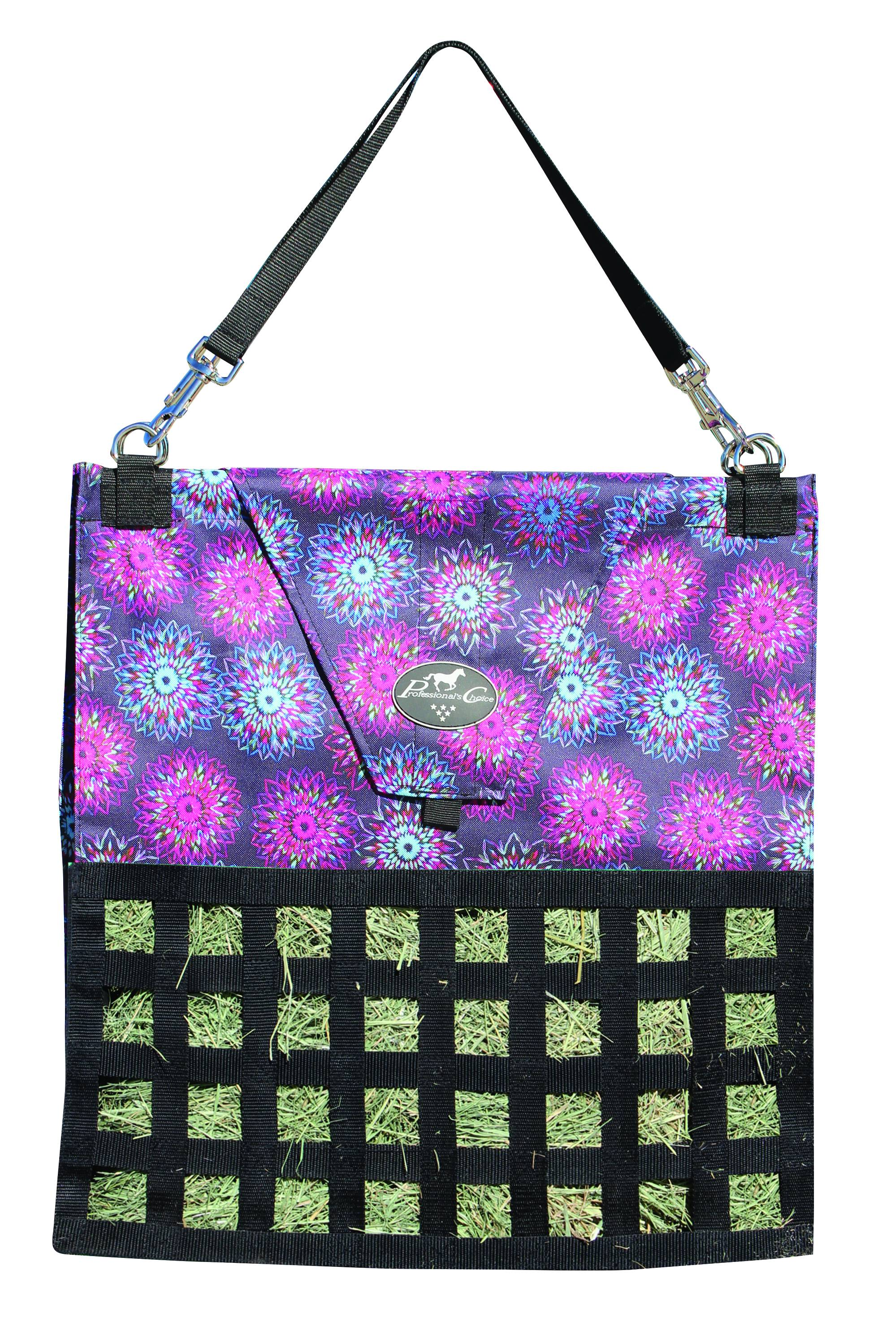 Professionals Choice Slow Feed Hay Bag - Flower Neon