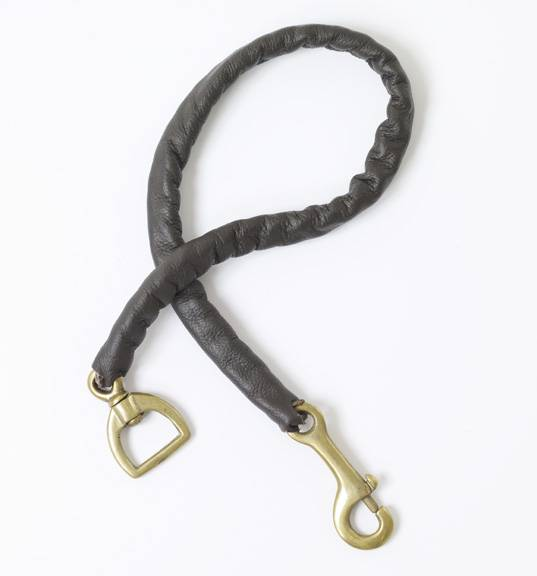 Centaur Leather Covered Stud Chain- 30in