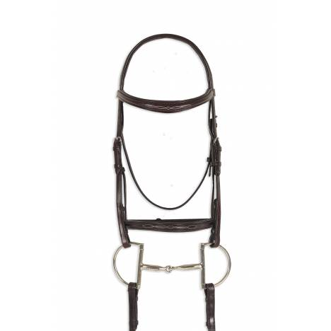 Ovation Breed Fancy Stitched Raised Padded Bridle - Draft Cross, Brown