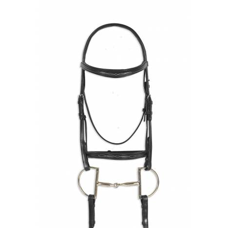 Ovation Breed Fancy Stitched Pad Snaffle Bridle - Freisian