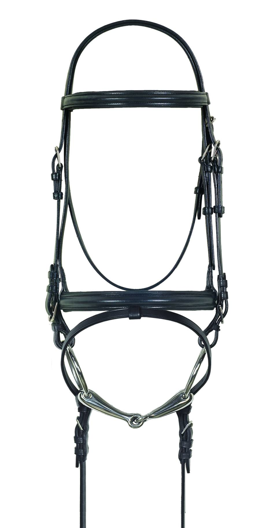 Camelot Crank Dressage Bridle with Anti-Slip Web Reins