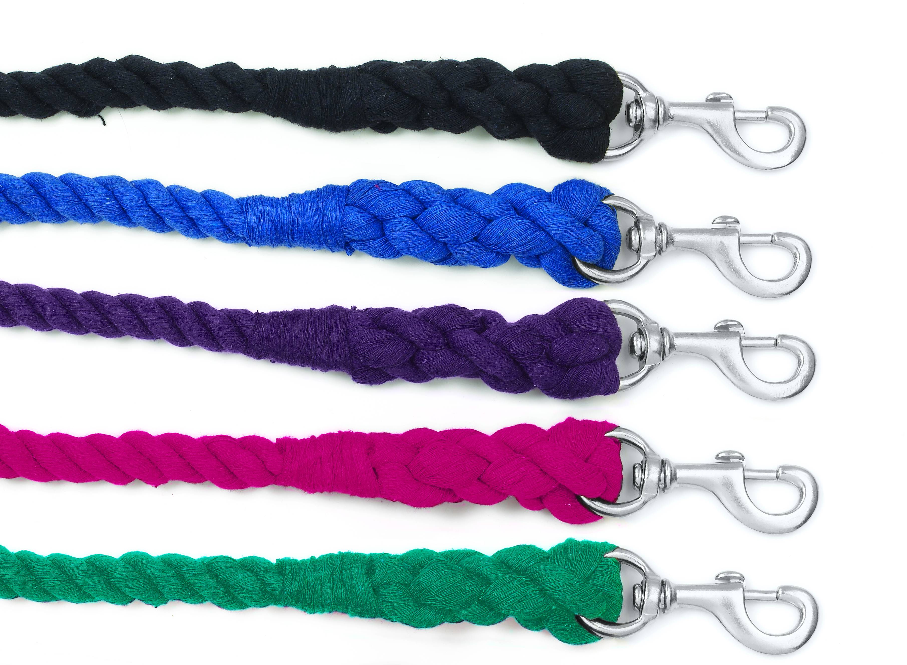 Equi-Essentials 2-Ply Cotton Lead with Chrome Plated Snap