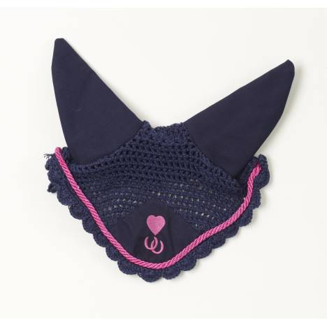 Centaur Embroidered Heart & Horseshoes Ear Net