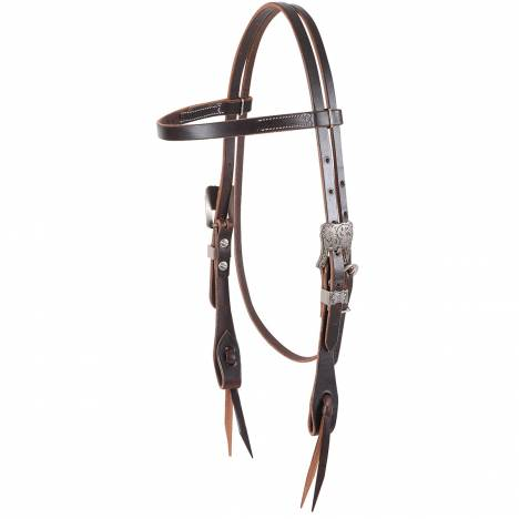 Martin Antique Silver Buckle Browband Headstall