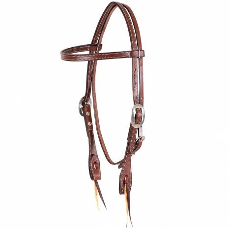 Martin Skirting Leather Browband Headstall- Chocolate