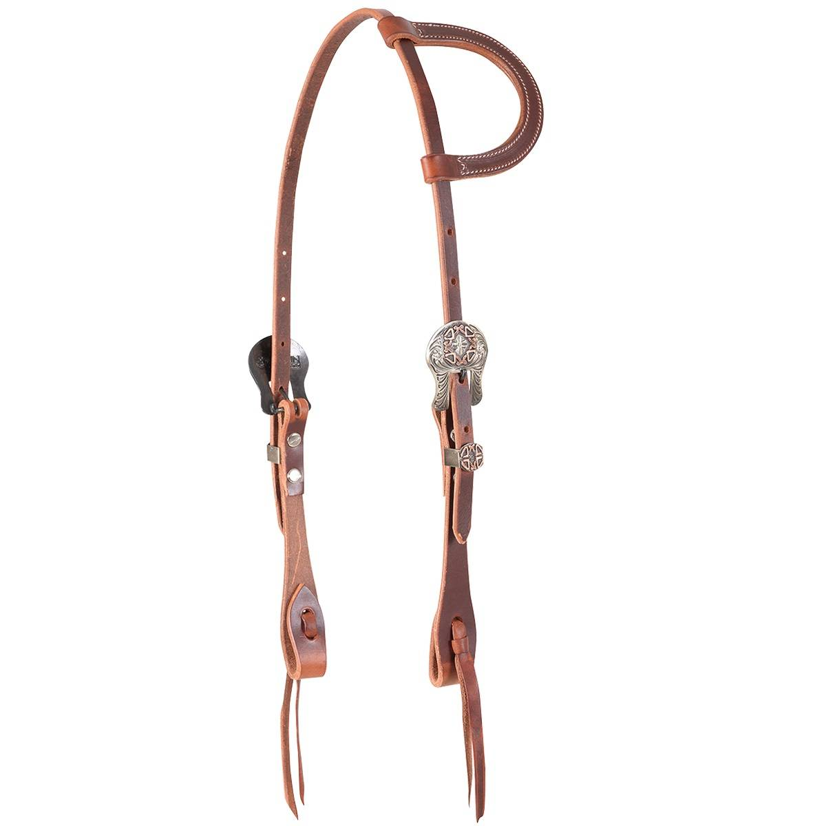 Martin Slide Ear Cowboy Diamond Buckle Headstall- Brown