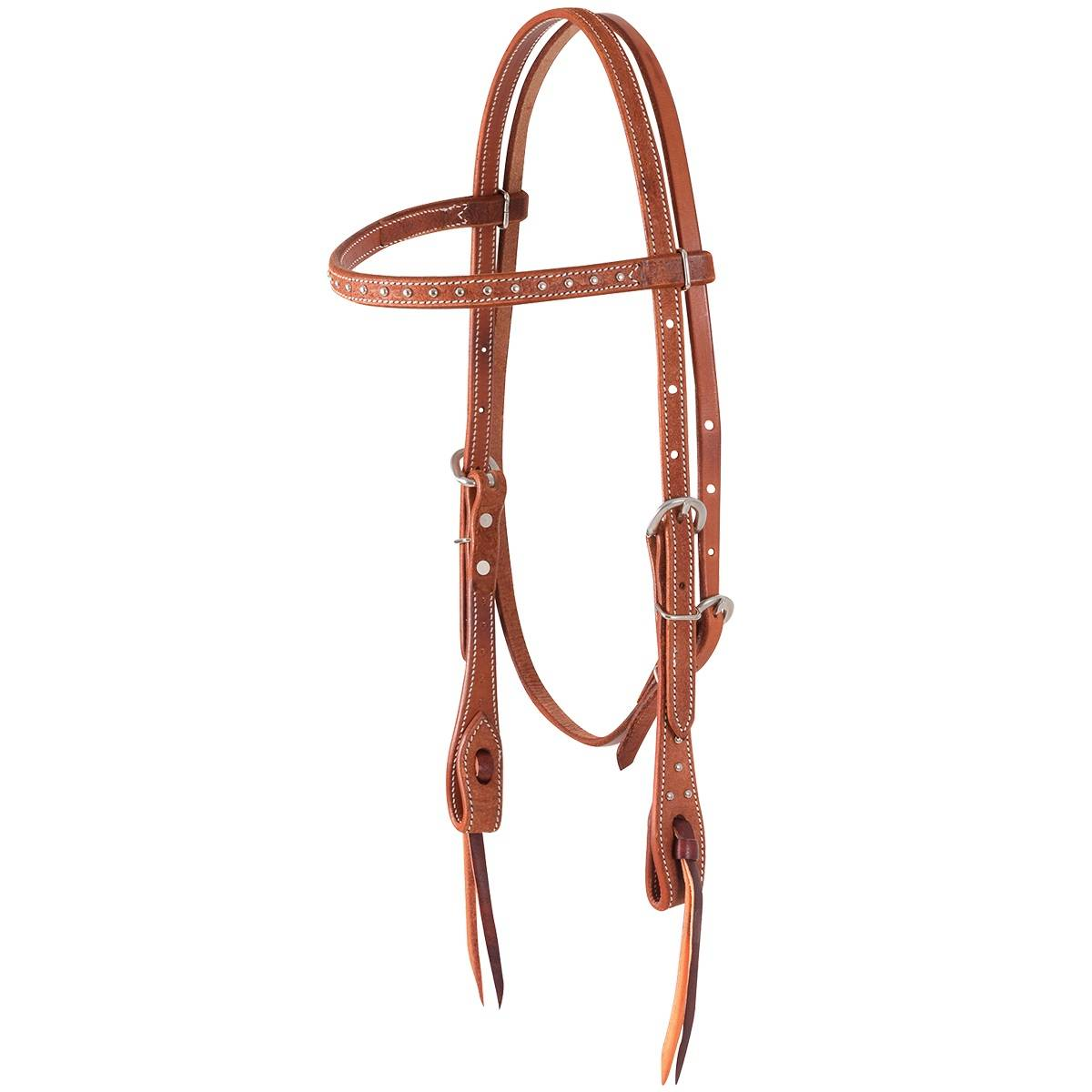 Martin Slip Ear Roughout & Dots Headstall- Chestnut