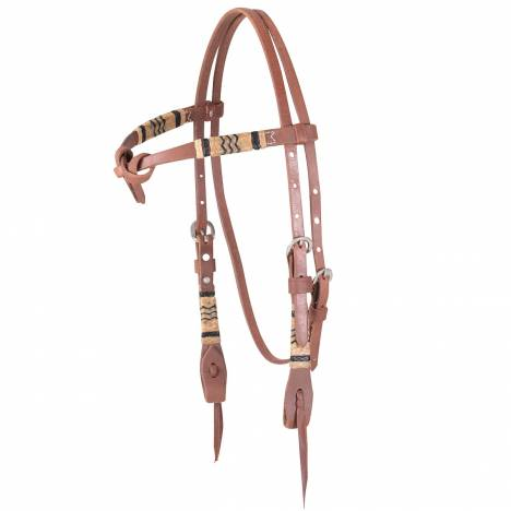 Martin Tie Front Rawhide Braided Headstall