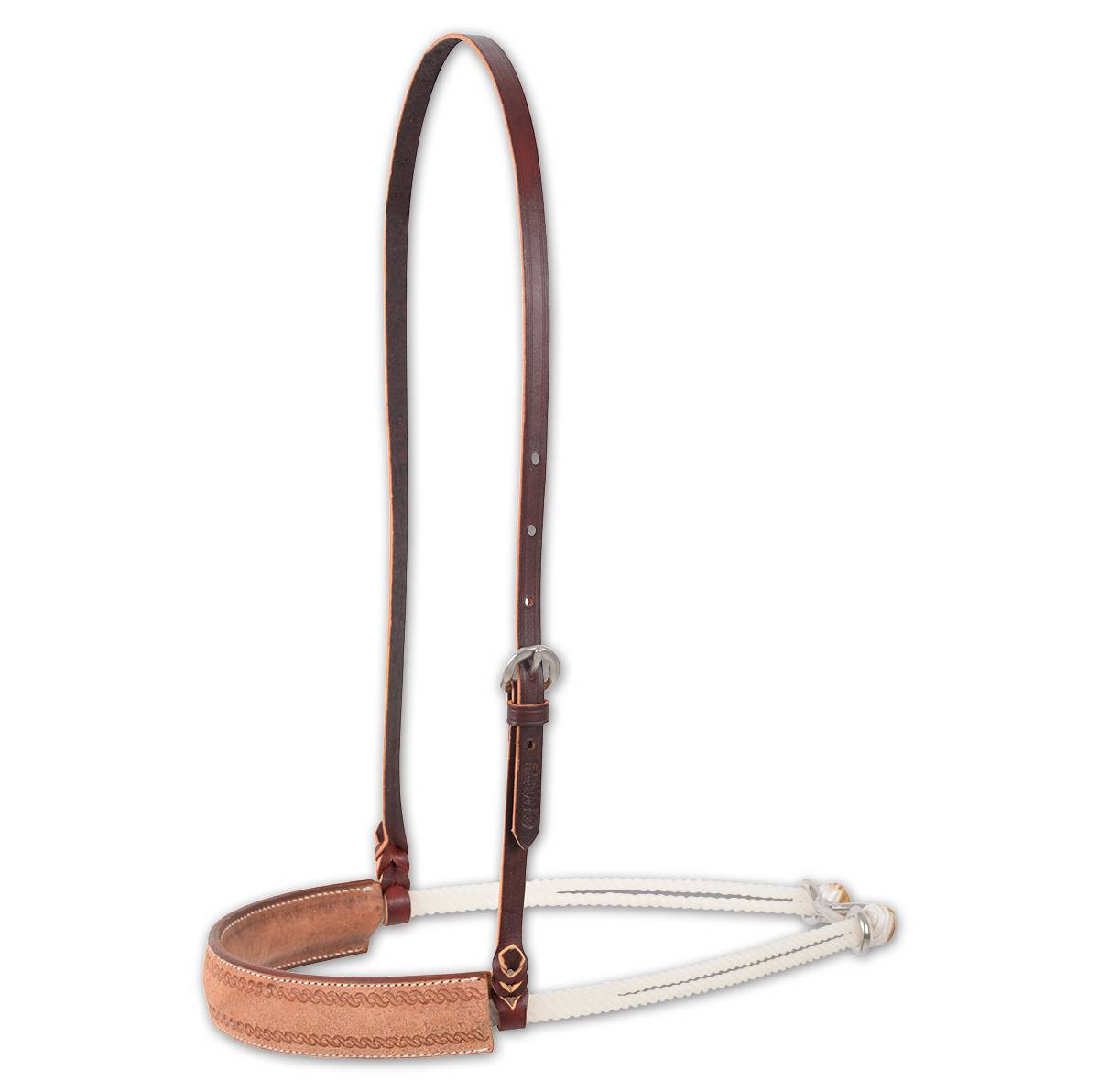 Martin Double Rope Corkscrew Border Noseband- Natural