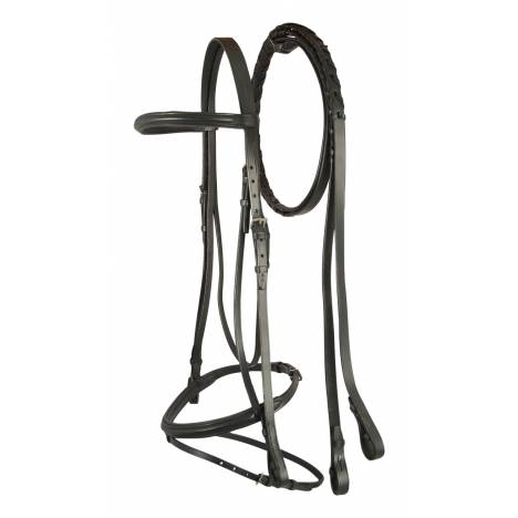 Treadstone Windeck Plain Raised Padded Bridle with Flash