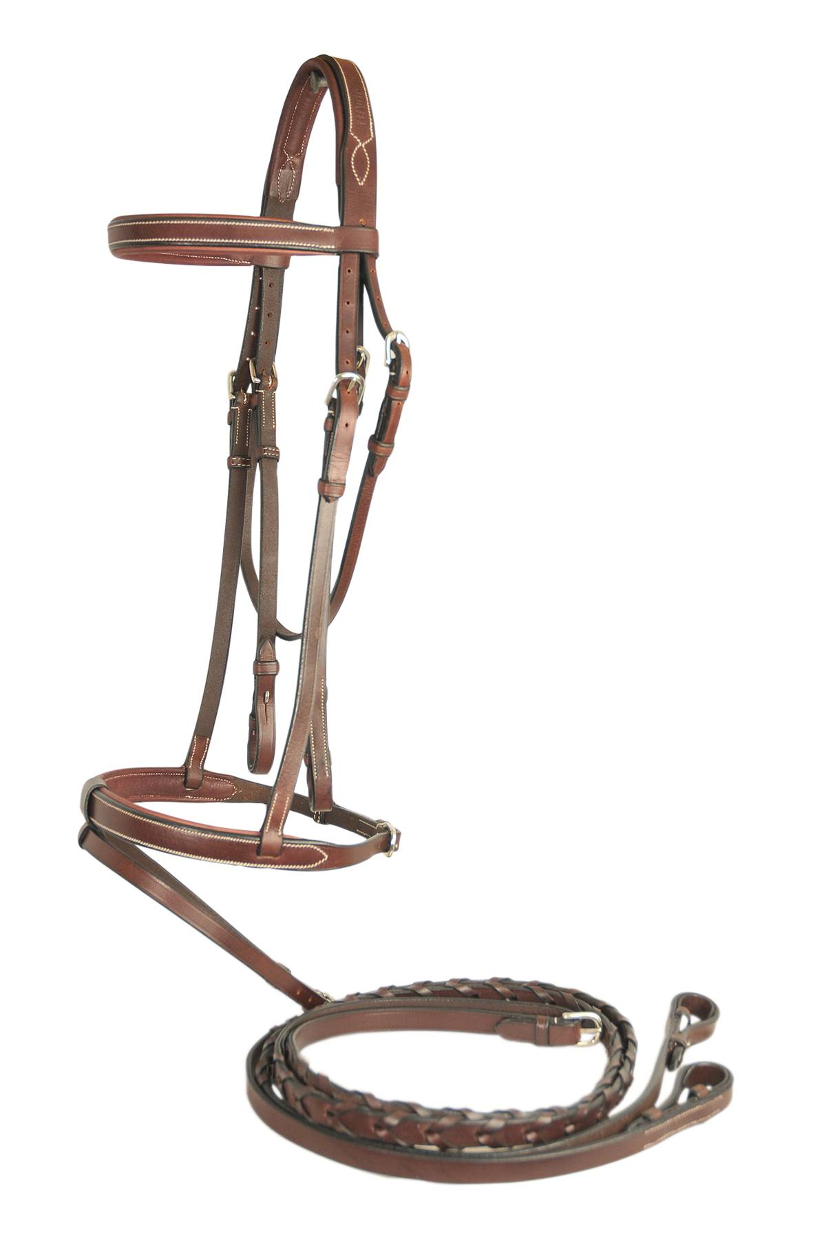 Treadstone Richtan Plus Flat Padded Bridle with Detachable Flash