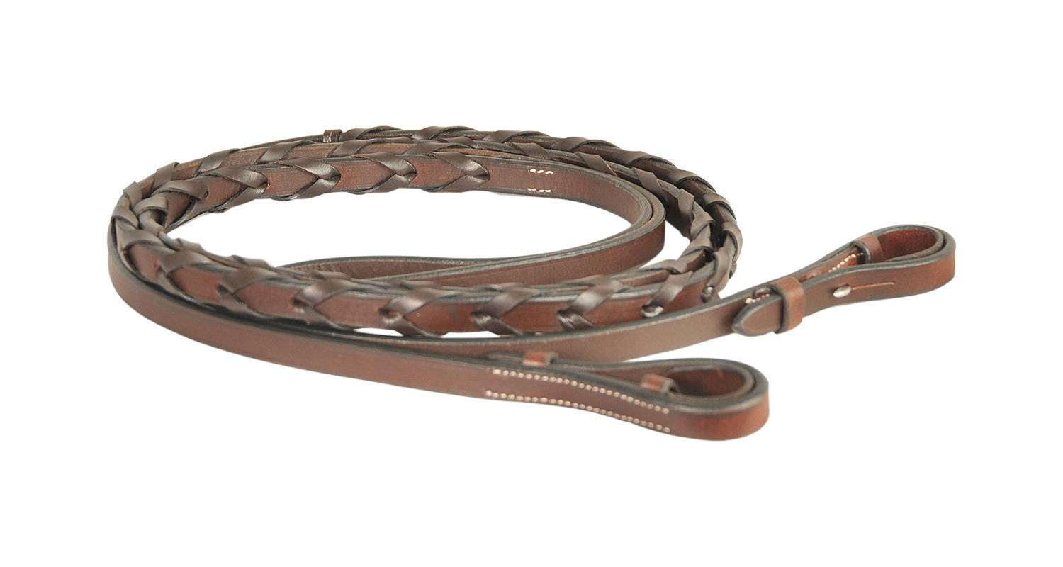 Treadstone Richtan Plus Laced Reins with Hooks - 1/2''