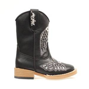 Blazin Roxx Gracie Wing & Cross Zip Western Boot - Girls, Black
