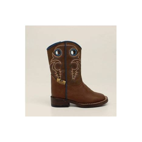 DBL Barrel Dylan Western Boot - Toddler Boys, Turquoise/Rust