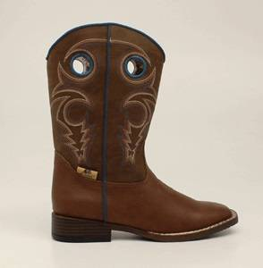 DBL Barrel Dylan Western Boot - Boys, Rust