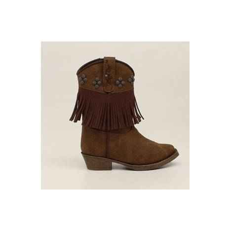 Blazin Roxx Annabelle Fringed Snip Toe Western Boot - Toddler Girls, Brown