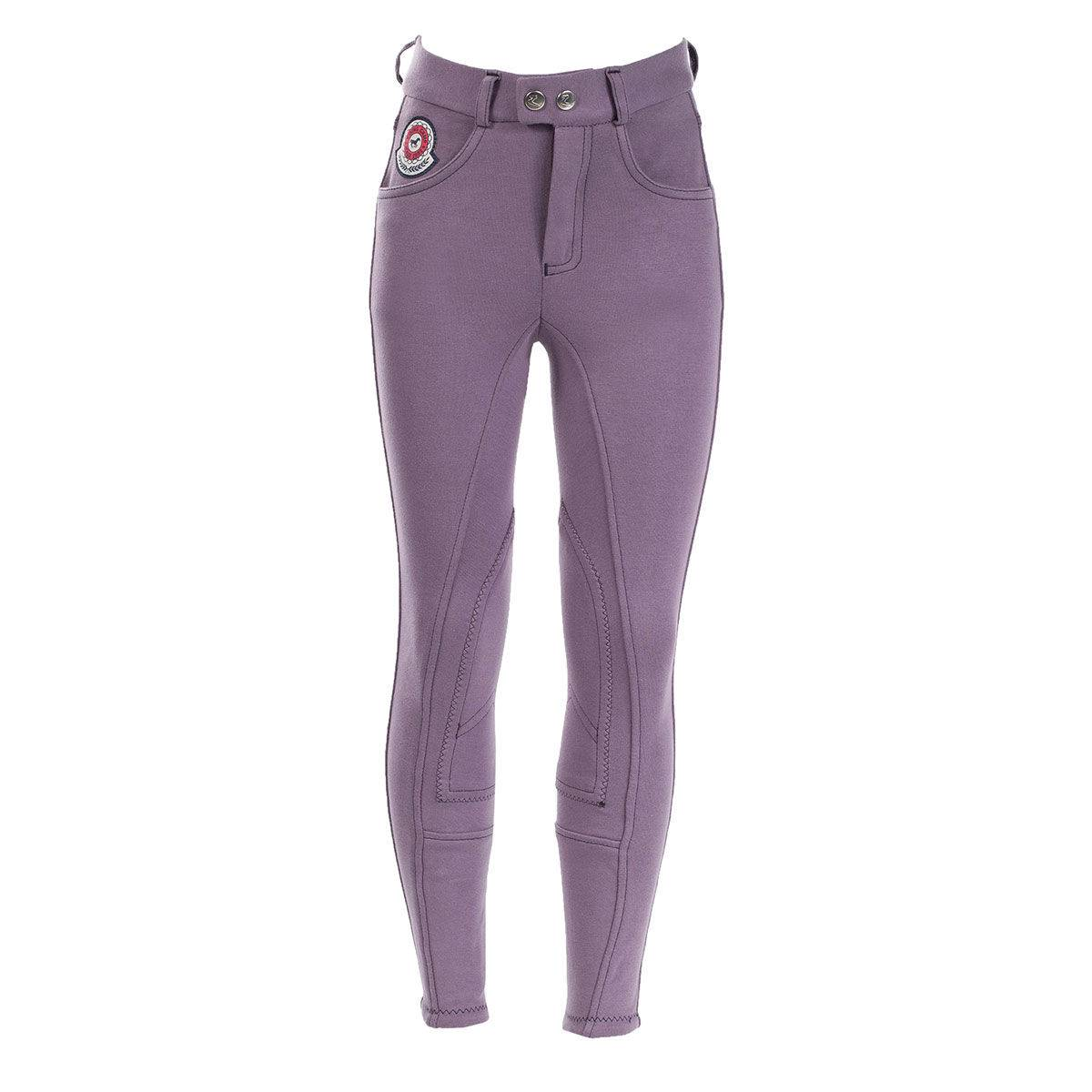 Horze Jen Jr Breeches - Kids, Self Knee Patch