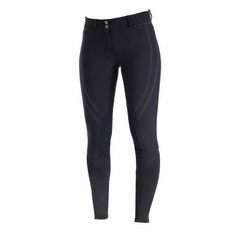 HorZe Supreme Ruby Knee Patch Breeches - Ladies - Black