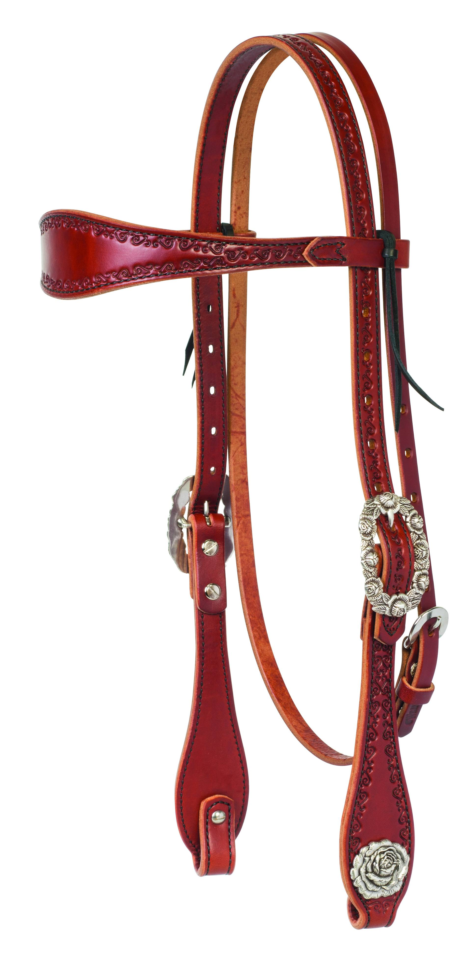 Weaver Filigree Hand Tooled Browband Headstall
