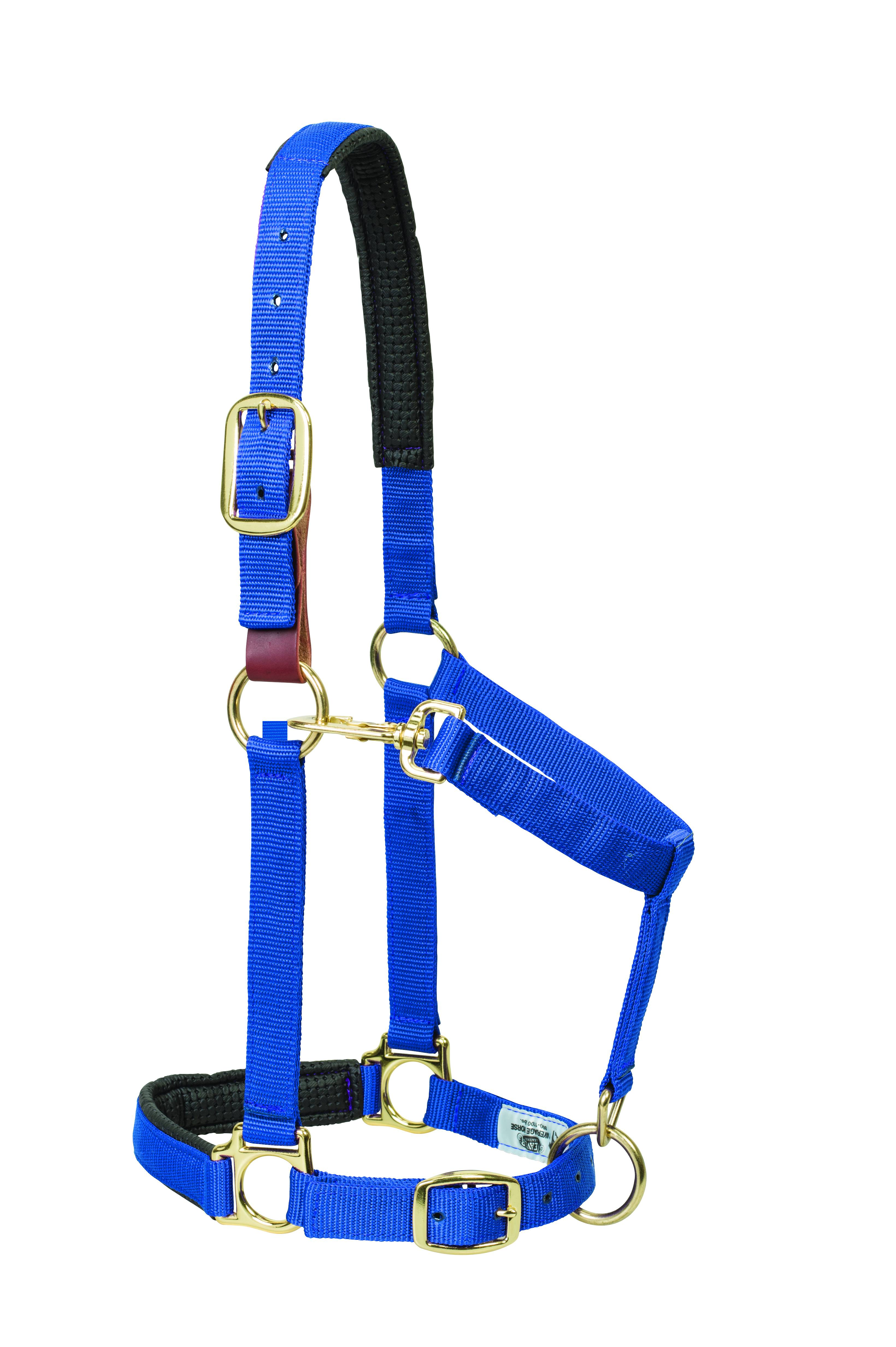 Weaver Solid Color Padded Breakaway Adjustable Chin and Throat Snap Halter