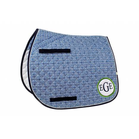 Lettia Preppy All Purpose Saddle Pad - Greek Key