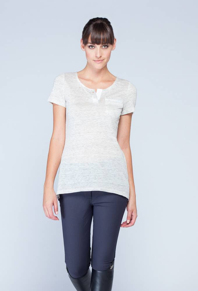 Asmar Linen Henley - Ladies
